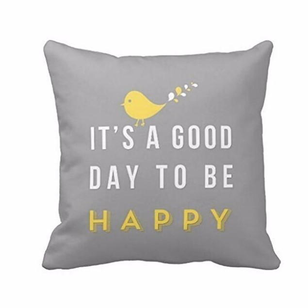 It's a Good Day to Be Happy Throw Pillow