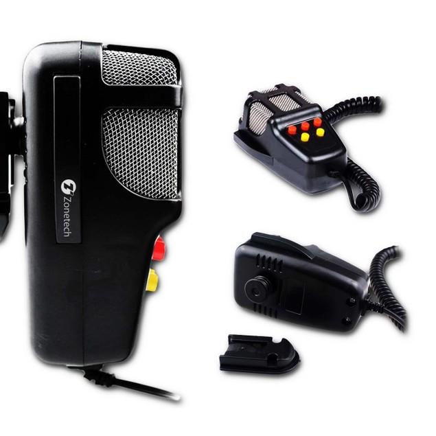 Zone Tech 100W 12V Car 5 Tone Alarm Police Fire Speaker PA Siren Horn MIC