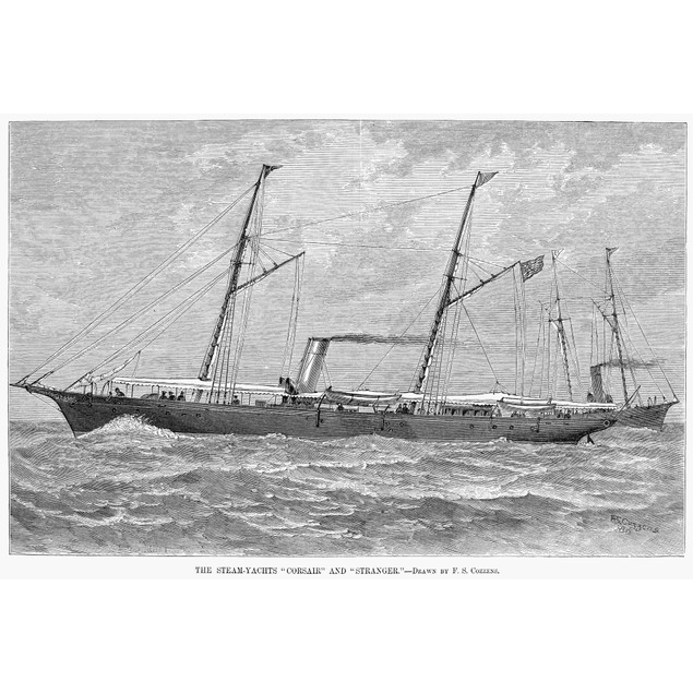 Yachting, 1880. /Nthe Steam-Yachts 'Corsair' And 'Stranger.' Line Engraving