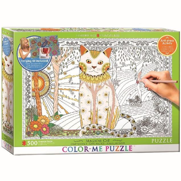Color Me Magic Cat 500 Piece Puzzle, 500 Piece Puzzles by Eurographics