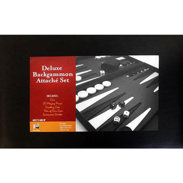 Backgammon Deluxe Attache Set Board Game, More Pop Culture by Go! Games