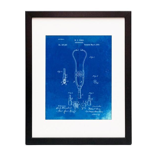 Stethoscope Patent Poster