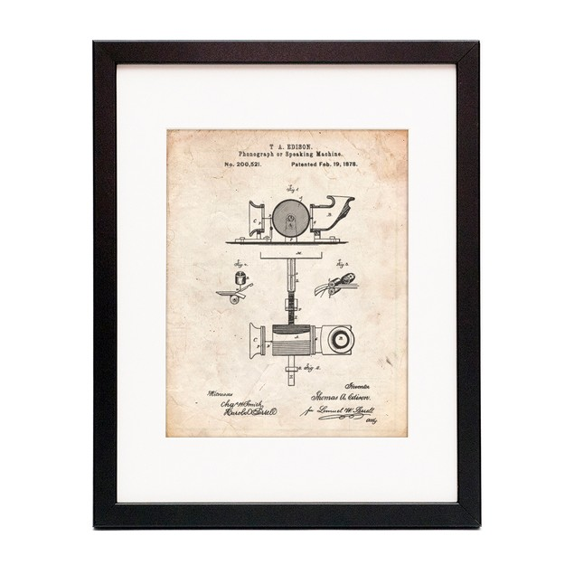 T. A. Edison Phonograph Patent Poster