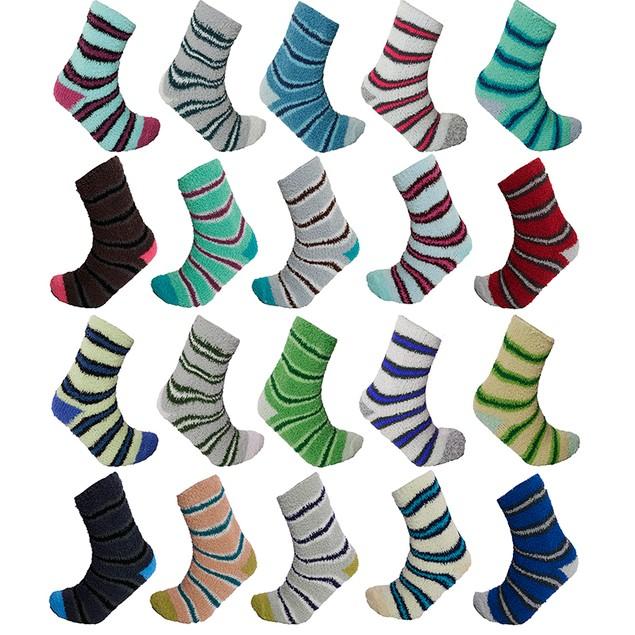 10-Pairs Mystery Deal: Women's Cozy Warm Fuzzy Fluffy Slipper Socks