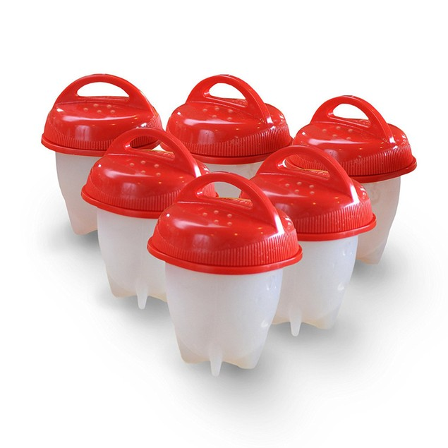 6pcs Non-Stick Hard-Boiled Egg Maker Cups Cooker Kitchen Tool