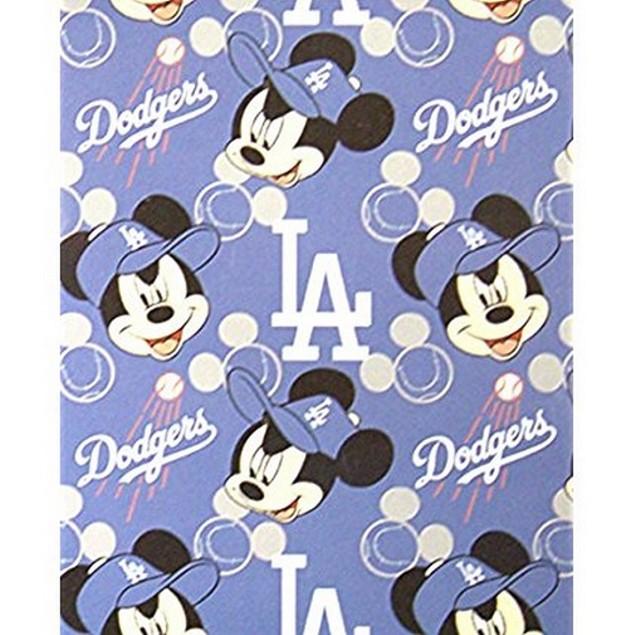 Los Angeles Dodgers MLB Northwest Mickey Mouse Fleece Throw