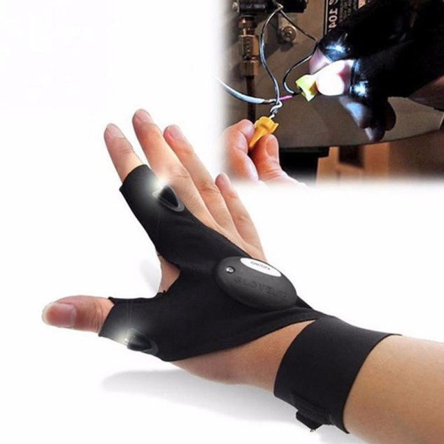 Night Fishing Glove with LED Light Rescue Tools Outdoor Gear