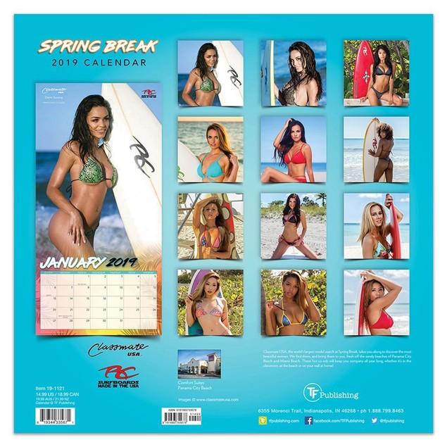 Spring Break Wall Calendar, Swimsuit Models by TF Publishing