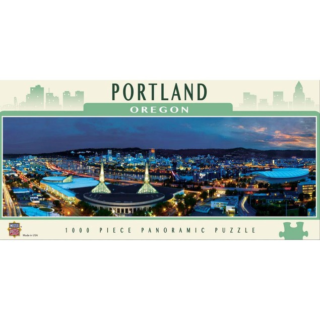 Portland 1000 Piece Panoramic Puzzle, 1,000 Piece Puzzles by Masterpieces P