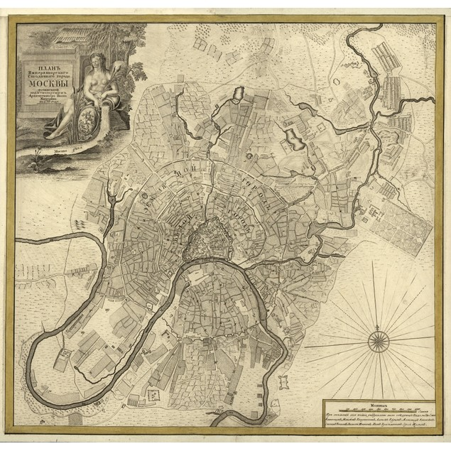 City Plan, Moscow, Russia - 1745 Poster