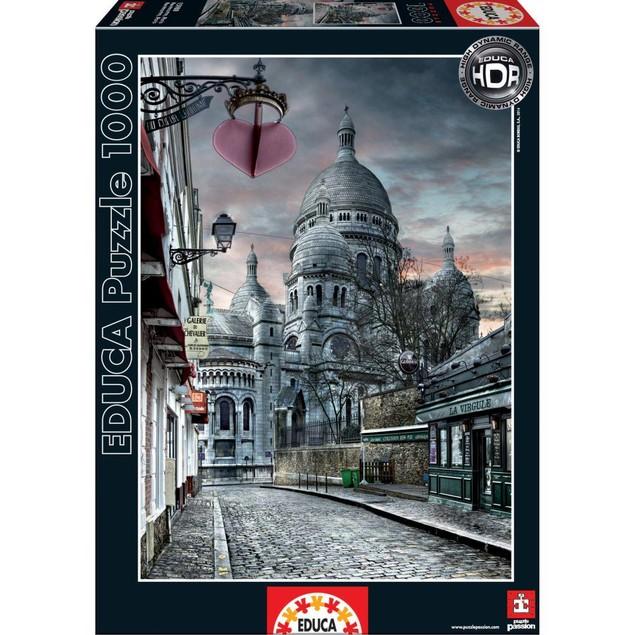 Montmartre Paris 1000 Piece Puzzle, France by John N. Hansen