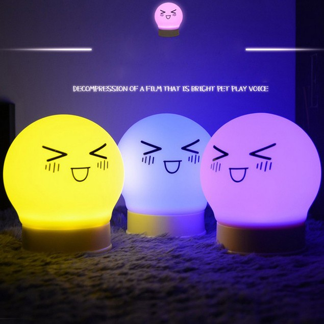 Rechargeable Fun Silicone Tap Control Night Lights