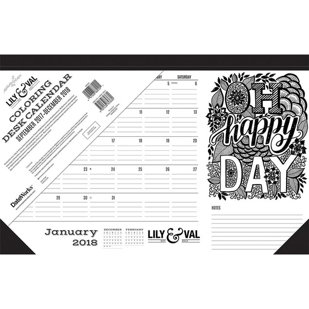 Coloring for Women Desk Pad, Nature by Calendars