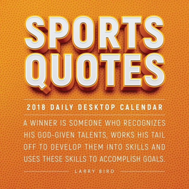 Sports Quotes Desk Calendar, Assorted Sports by TF Publishing