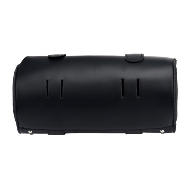 Motorcycle Universal Saddlebags Tool bag PU Leather Roll Black Bags