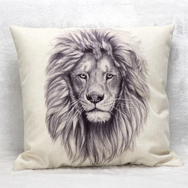 Vintage Cotton Linen Pillow Case Sofa Waist Throw Cushion Cover