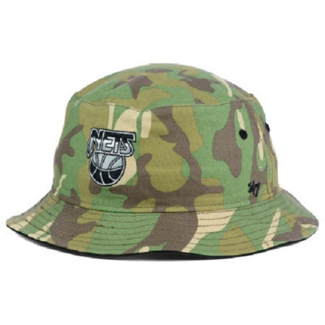 Brooklyn Nets NBA 47 Brand Camo Bucket Hat