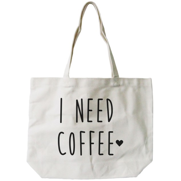 I Need Coffee Canvas Tote Bag