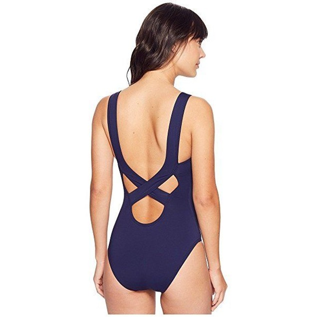 Tommy Bahama Women's Pearl Over-The-Shoulder Crossback One-Piece Sz: 1
