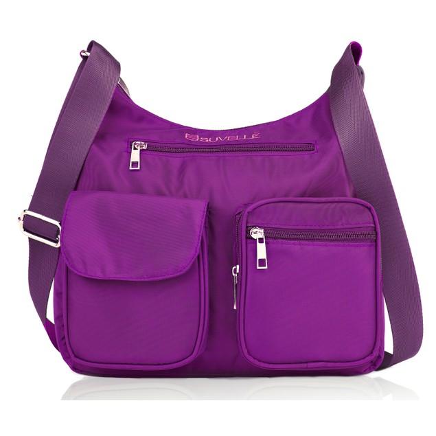 Suvelle Carryall RFID Blocking Travel Crossbody Bag Anti Theft Handbag