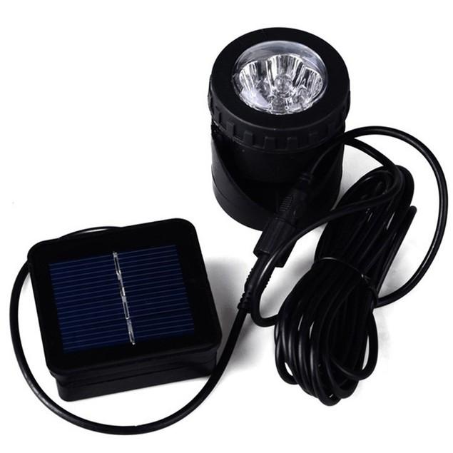 Solar LED Underwater Spotlight Floodlight Outdoor Garden Light