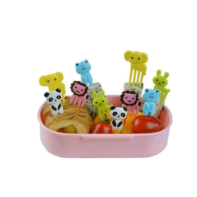 Animal child fruit fork creative plastic easy decoration