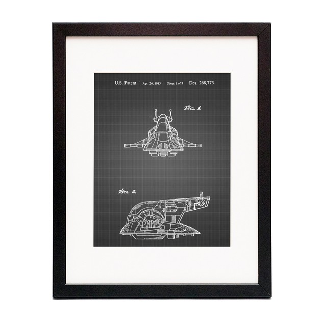 Star Wars Slave One Patent Poster