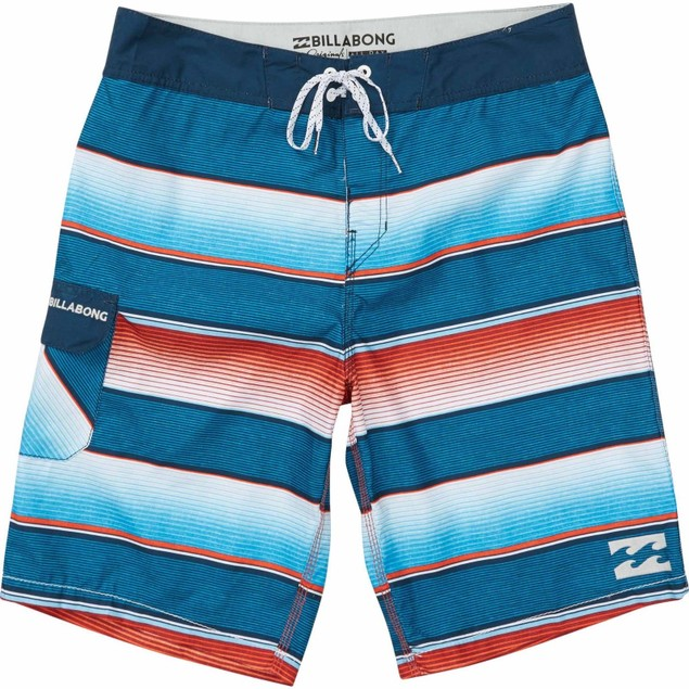 Billabong Men's All Day OG Stripe Boardshort ‑ Red ‑ 28
