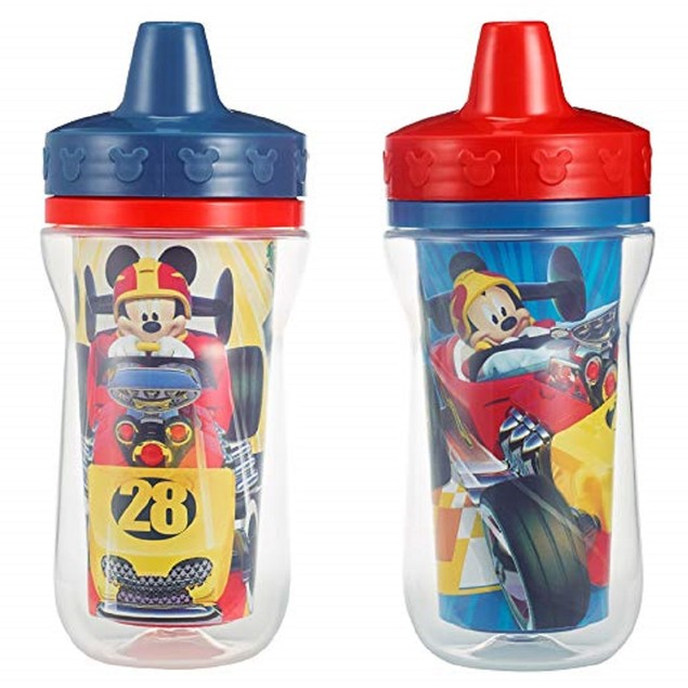 2 Pack 9 Ounce Insulated Sippy Cup, Mickey Mouse