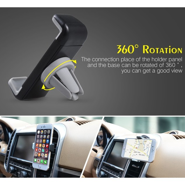 2 Pack Universal Air Vent Car Mount Vent for iPhone and Samsung