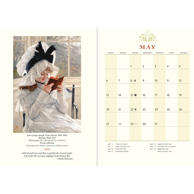 The Reading Woman Softcover Weekly Planner, Literature by Calendars
