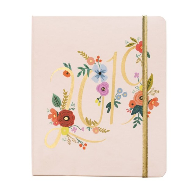 Bouquet Covered Spiral 2019 Planner, Decorative Planner by Rifle Paper Co.