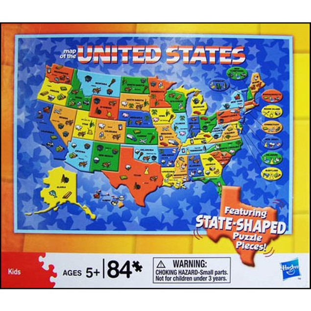 US Map 84 Piece Puzzle, More Puzzles by Cardinal