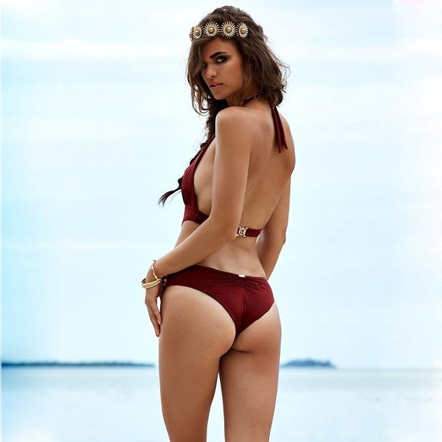 Women Bandage Sandy Beach Bra Vintage Bikini Swimsuit Beach Swimwear