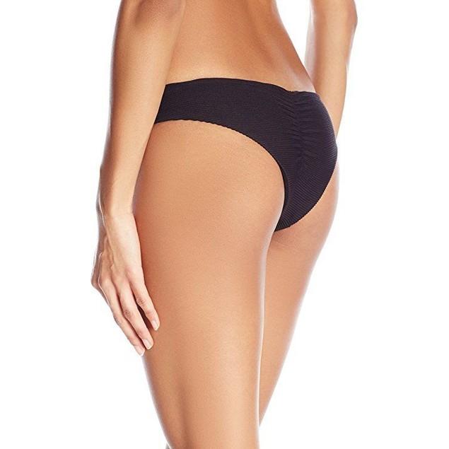 Billabong Women's Line up Hawaii Low Bikini Bottom, Black, SZ: LARGE