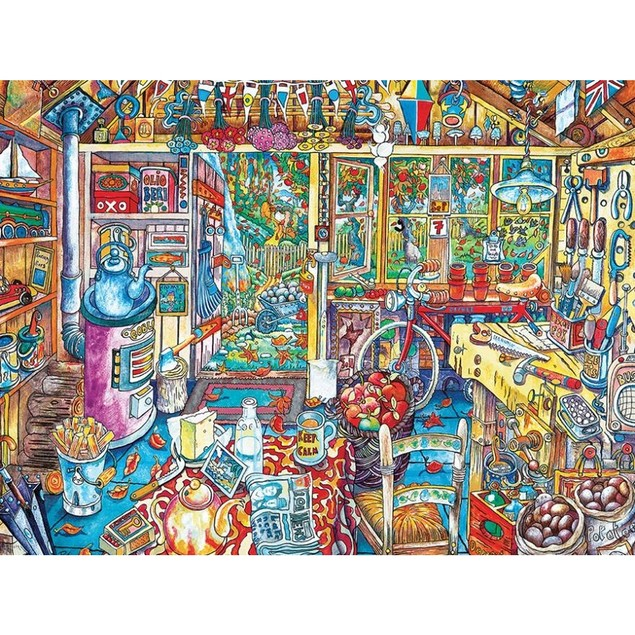 Workshop 750 Piece Puzzle, More Folk Art by Ceaco