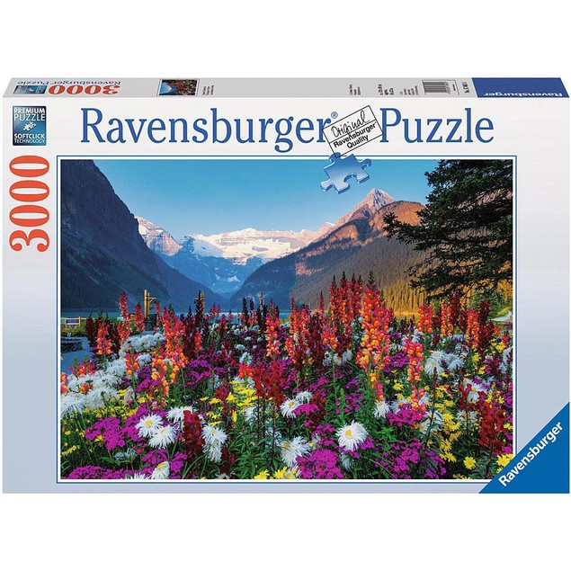 Flowery Mountains 3000 Piece Puzzle, More Puzzles by Ravensburger