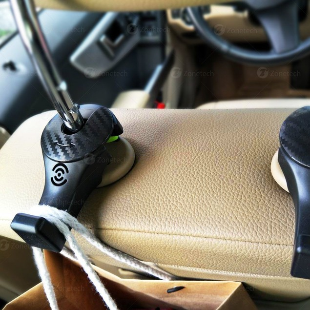 Zone Tech Back Seat Headrest Hooks Rotatable Hanger Bags Jacket Holder