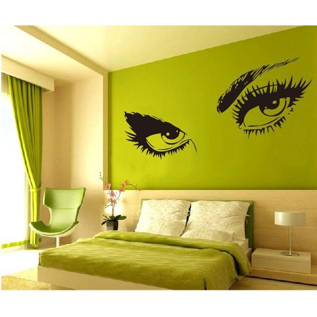 STickeRs Audrey Hepburn's Eyes Silhouette Wall Sticker Decals Home Decor