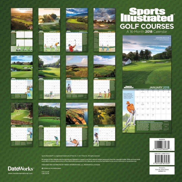 Sports Illustrated Golf Courses 2018 Wall Calendar