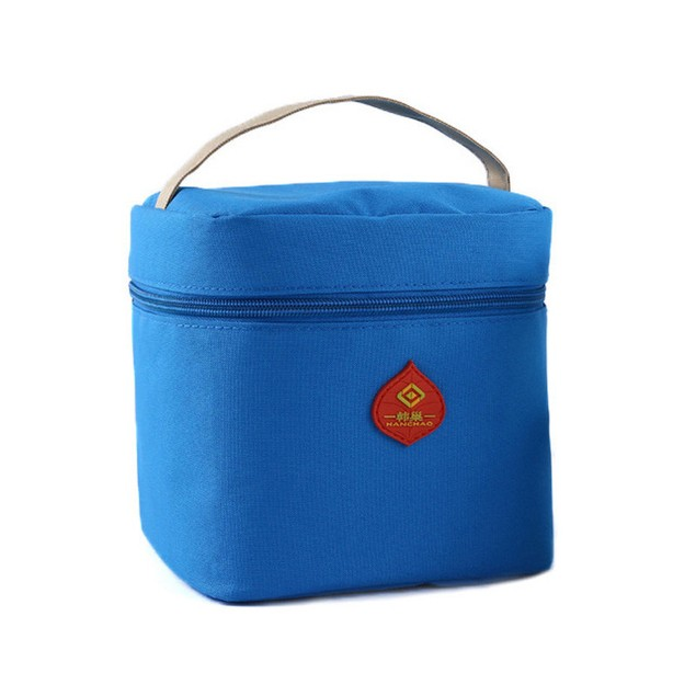 Waterproof Portable Picnic Insulated Zipper Storage Box Tote Lunch Bag
