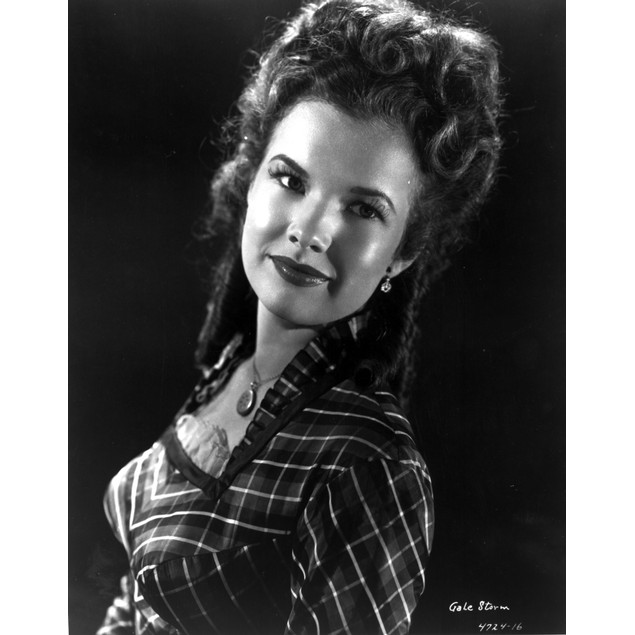 Gale Storm smiling in Portrait Poster