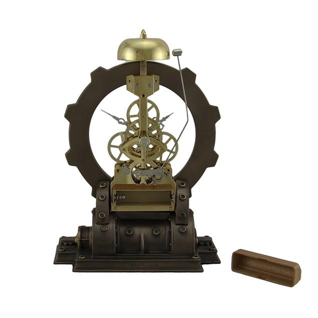 Time's Gate Metallized Steampunk Generator Desktop Table Clocks