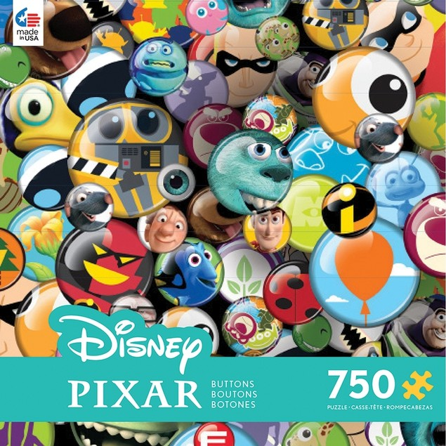 Disney Pixar Buttons 750 Piece Puzzle, Assorted Disney by Ceaco