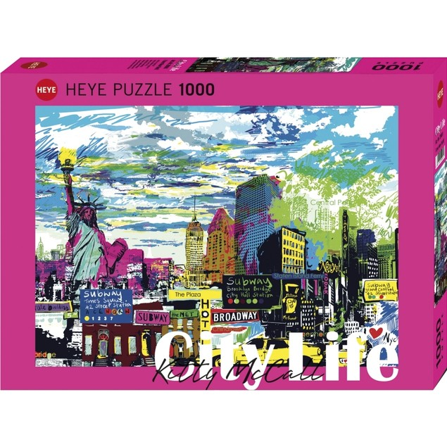 City Life I Love New York! 1000 Piece Puzzle, 1,000 Piece Puzzles by Autruc