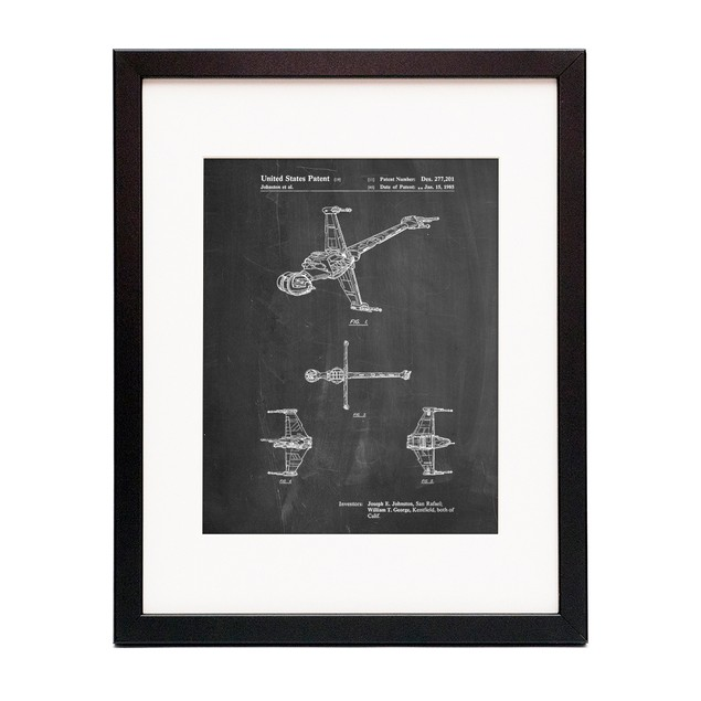Star Wars B-Wing Starfighter Patent Poster