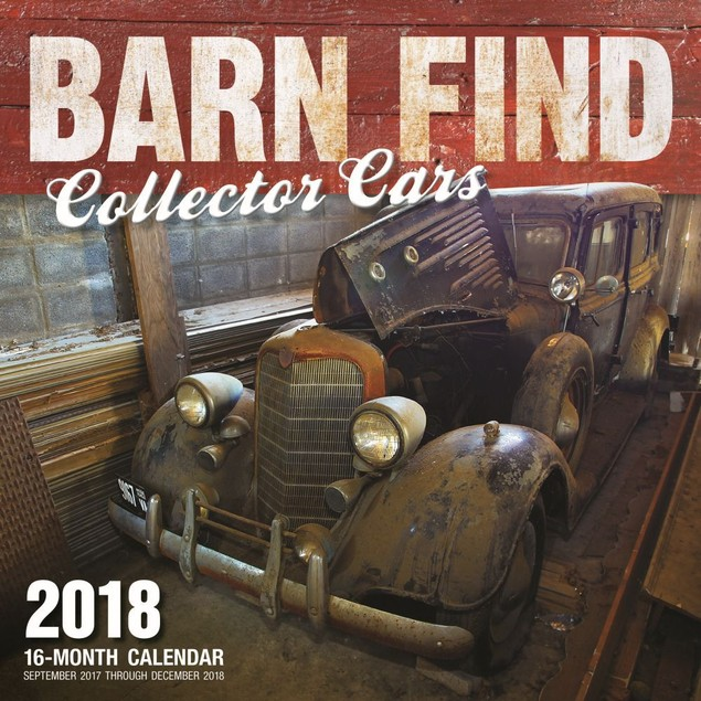 Barn Find Collector Cars Wall Calendar, Classic Car by Quarto