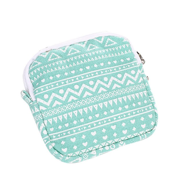Woman's Sanitary Product Organizer Travel Bag