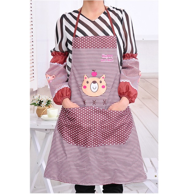 Womens Kitchen Restaurant Bib Cooking Aprons Pockets Apron