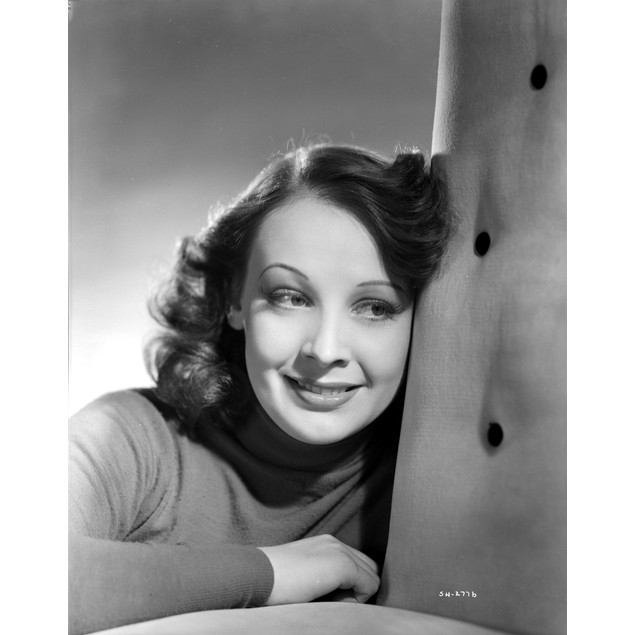 Signe Hasso Leaning on a Couch smiling Portrait Poster